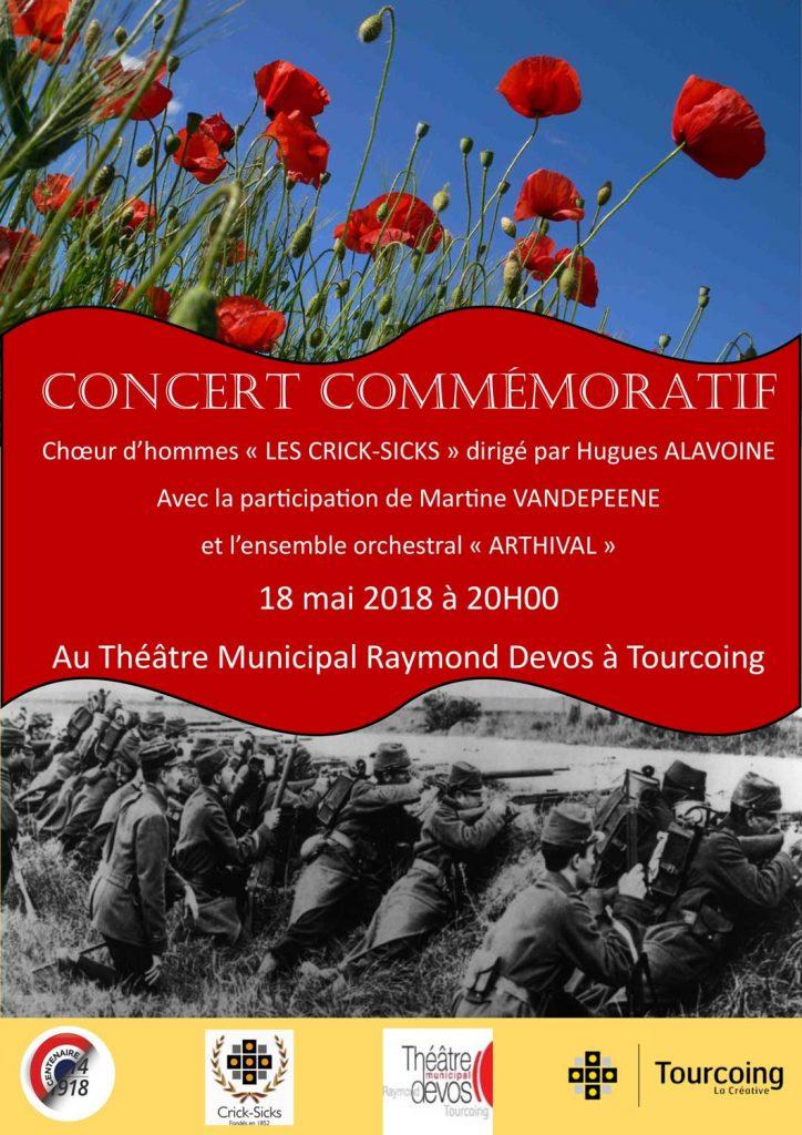 Premier concert de commémoration 14-18 à Tourcoing