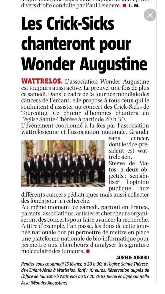 Les Crick-Sicks chantent pour Wonder Augustine